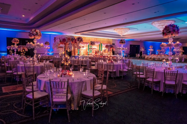Ballroom-Wedding-High-Centerpieces-Flowers-Candles